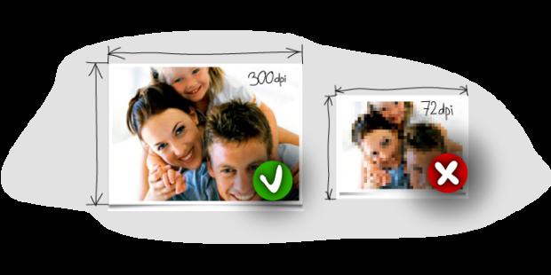 Fotoauflösung und Seitenverhältnisse